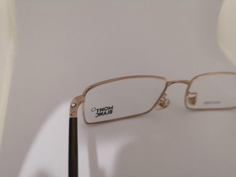 Women's or Men's Mont Blanc gold plated glasses frames  For Sale