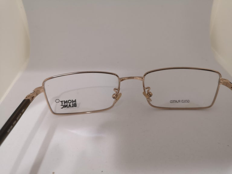Mont Blanc gold plated glasses frames  For Sale 1