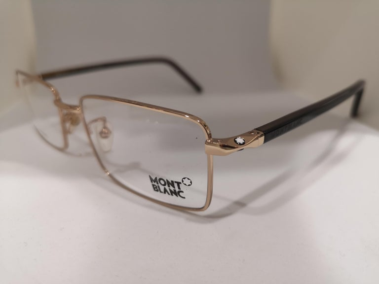 Mont Blanc gold plated glasses frames  For Sale 3