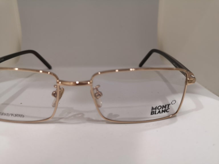 Mont Blanc gold plated glasses frames  For Sale 4