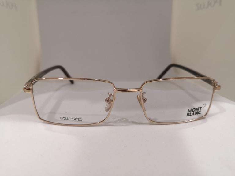 Mont Blanc gold plated glasses frames  For Sale 5