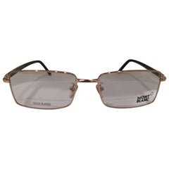 Mont Blanc gold plated glasses frames