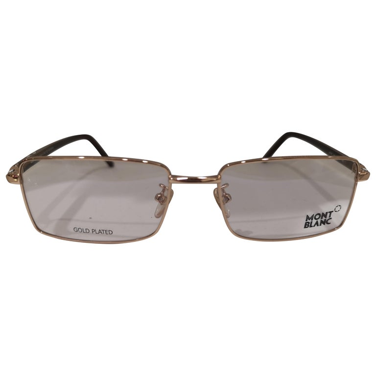 Mont Blanc gold plated glasses frames  For Sale