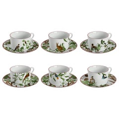Mont Blanc, Tea Set with Six Contemporary Porcelains with Decorative Design