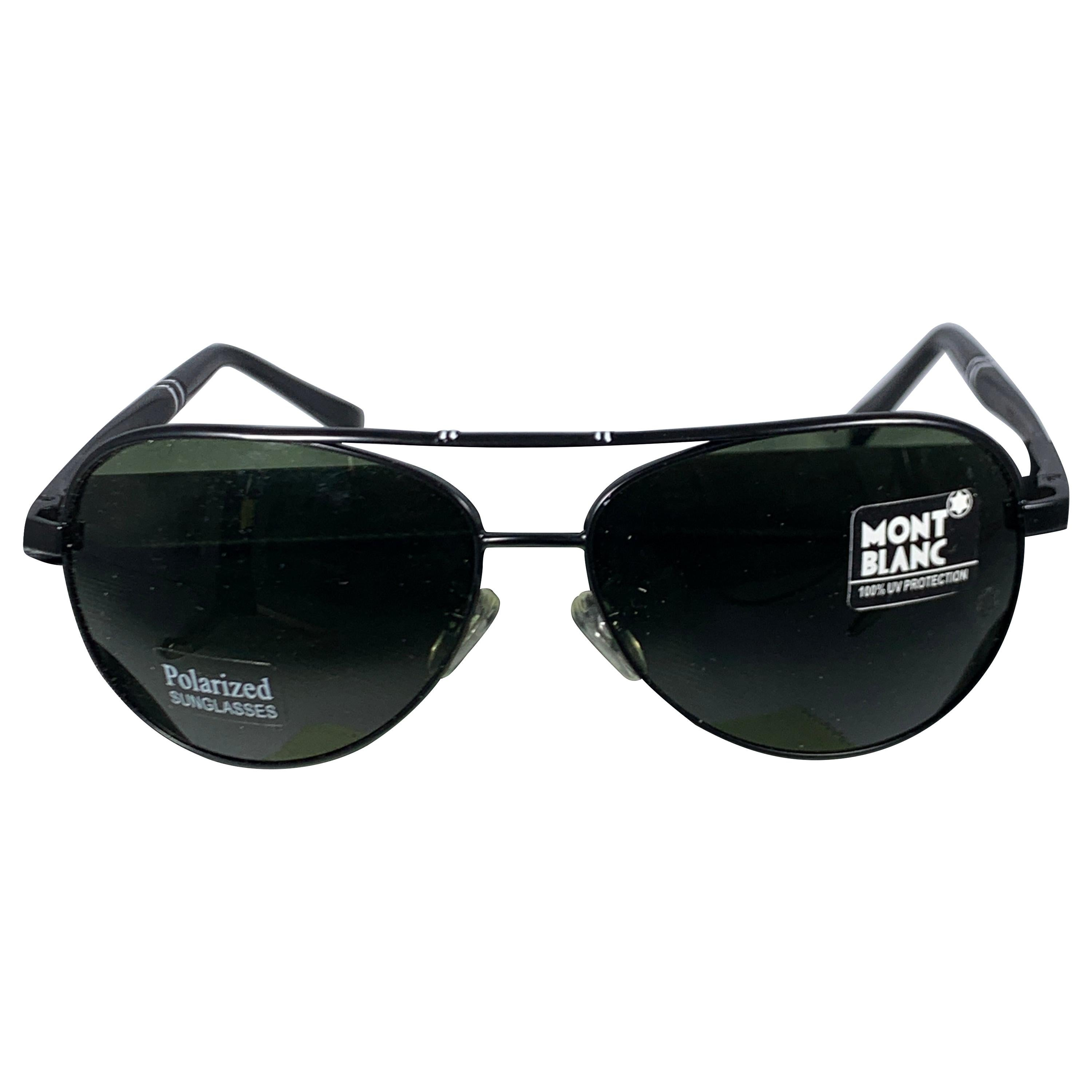 Mont Blank Pre Loved  2938  63-13 -130 Black Men's Sunglasses, Made in Italy