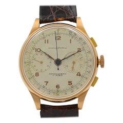 Montagne Antimagnetic 18 Karat Rose Gold Vintage Manual Wind Men's Watch