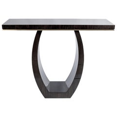 "Davidson's Contemporary, ""Montagu"" Console, in High Gloss Dark Tinted Oak"