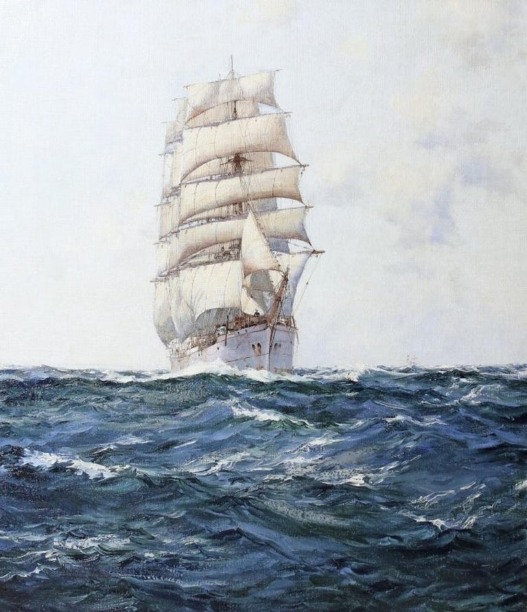 Montague Dawson, (1895-1973) Deep waters Oil on canvas Measures: 34 x 39 in.(86.3 x 99 cm.) Provenance M. Newman, Ltd., St. James, London, circa 1949 Hugh Jaques, Esq., Montreal, Canada, circa 1950 by Descent A letter from M. Newman, Ltd.,