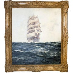 Montague Dawson, Deep Waters, Oil on Canvas Signed
