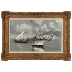 Montague J Dawson, 'Valetta Harbour'