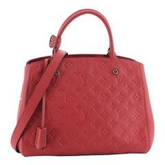 Montaigne Handbag Monogram Empreinte Leather MM