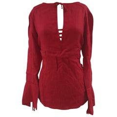 Montana blue red linen shirt