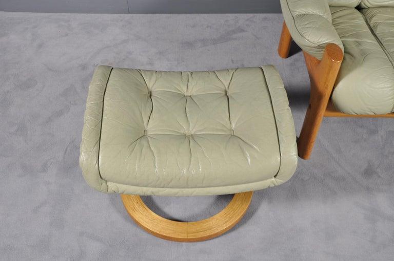 Montana Leather Lounge Chair And Ottoman By J E Ekornes
