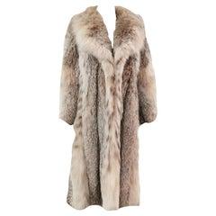 Montana Lynx Fur Coat (Size 6 - Small)