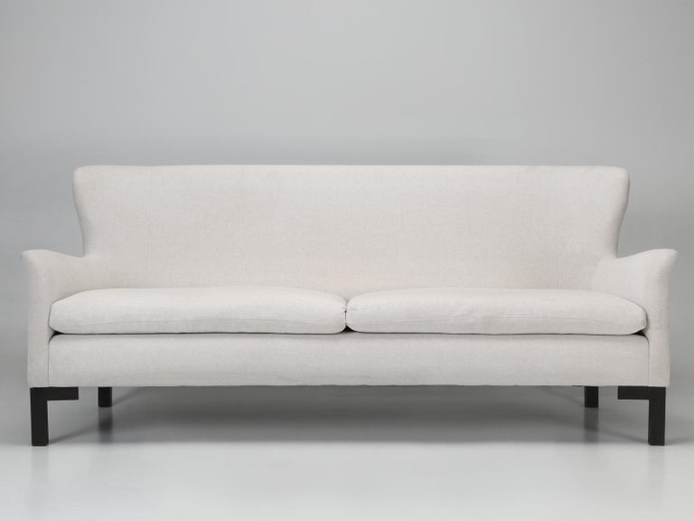 Modern Montauk Sofa Handmade in Montreal, Canada For Sale