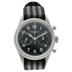 Montblanc 1858 117835, Black Dial, Certified and Warranty