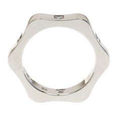 Montblanc 4810 Star Diamond 18k White Gold Band Ring Size 50