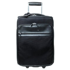 Montblanc Black Fabric and Leather Nightflight Trolley On-board Travel Bag