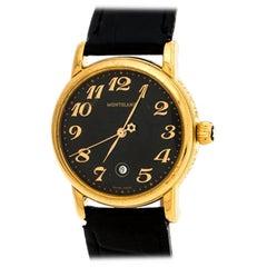 Montblanc Black Gold-Plated Meisterstuck 7005 Women's Wristwatch 32MM