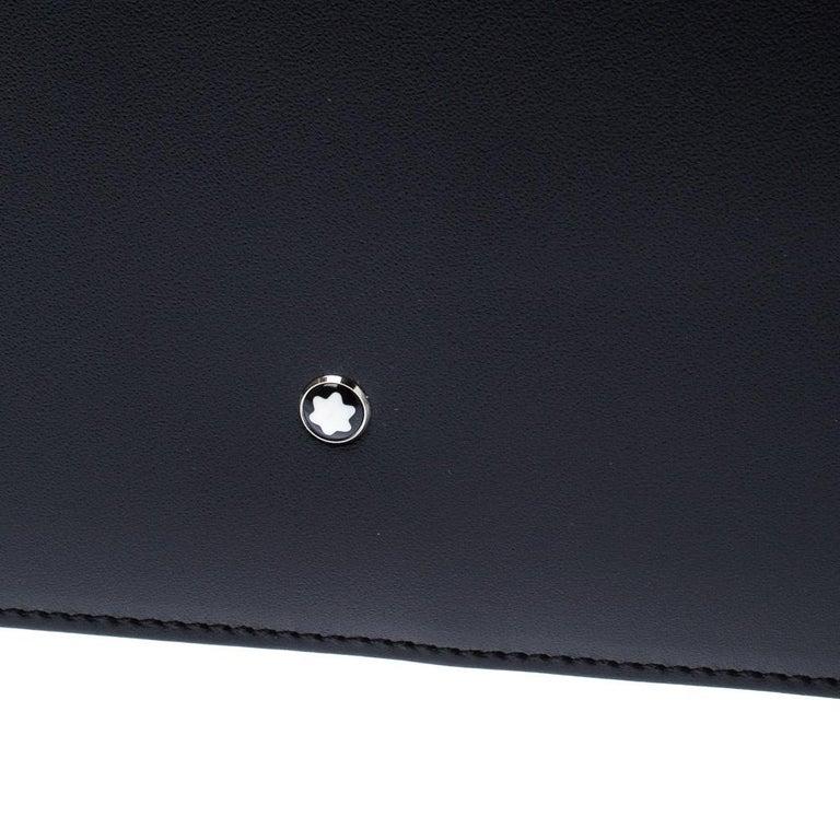 Montblanc Black Leather Conference Folder For Sale 6