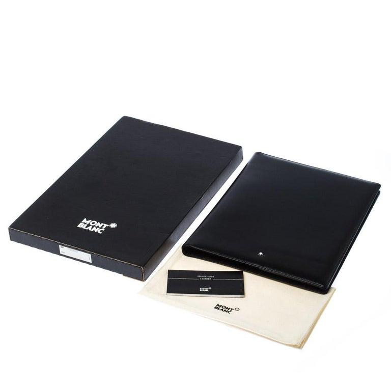 Montblanc Black Leather Conference Folder For Sale 7