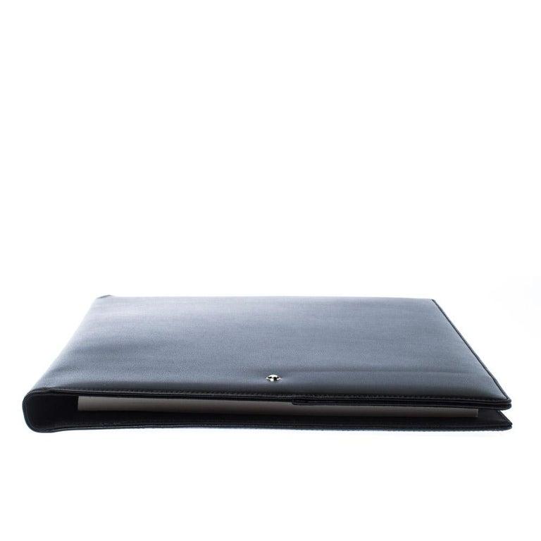 Men's Montblanc Black Leather Conference Folder For Sale