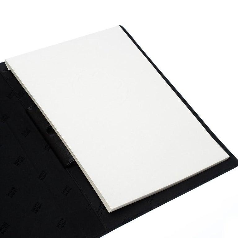 Montblanc Black Leather Conference Folder For Sale 1