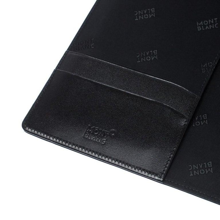 Montblanc Black Leather Conference Folder For Sale 2