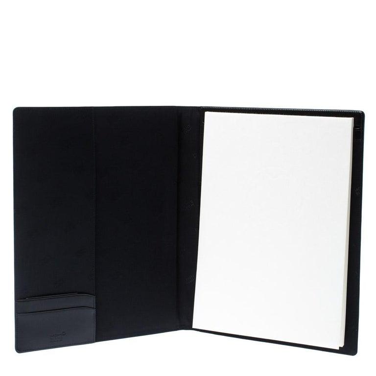 Montblanc Black Leather Conference Folder For Sale 3