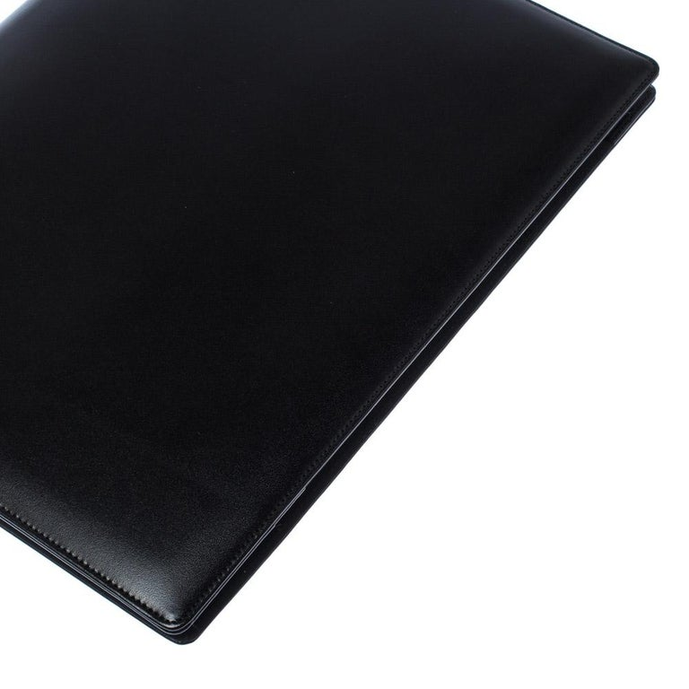 Montblanc Black Leather Conference Folder For Sale 4