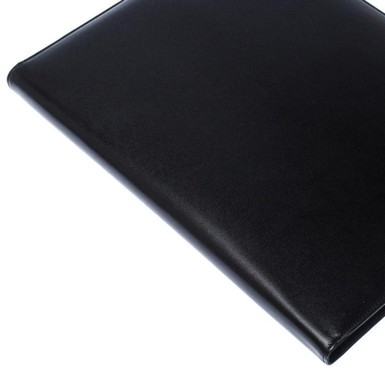 Montblanc Black Leather Conference Folder For Sale 5