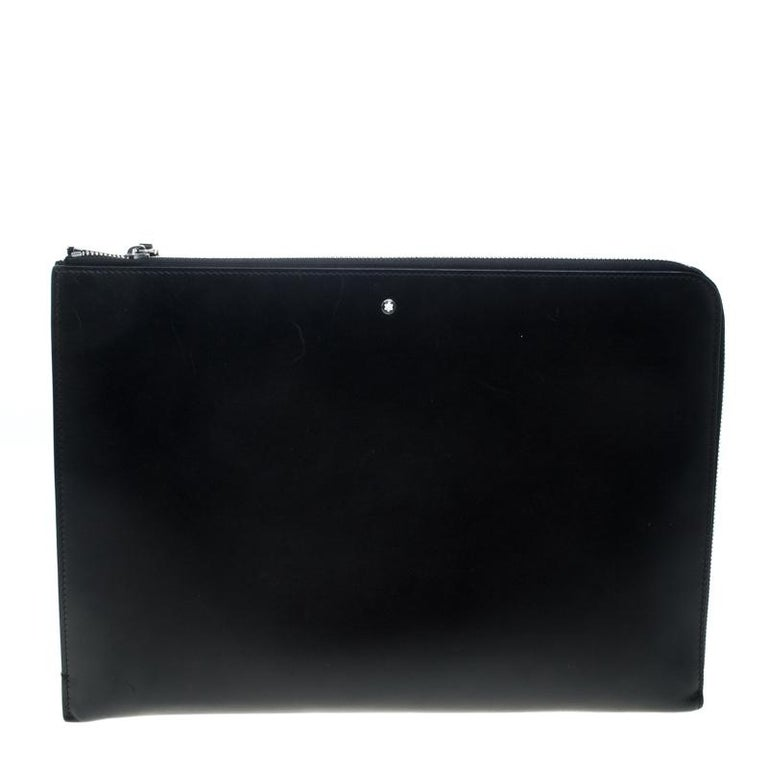 470c5de095aa3 Montblanc Black Leather Document Case For Sale at 1stdibs