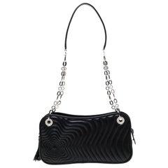 Montblanc Black Leather Starisma Concerto Shoulder Bag