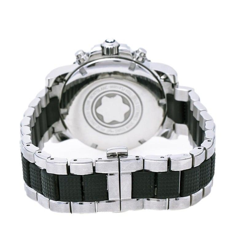 Men's Montblanc Black Sport XXL 102359 Automatic Chronograph Men's Wristwatch 41.50 mm For Sale