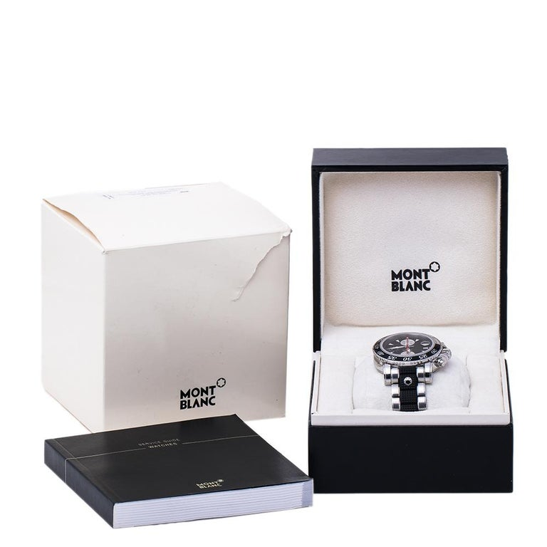 Montblanc Black Sport XXL 102359 Automatic Chronograph Men's Wristwatch 41.50 mm For Sale 3