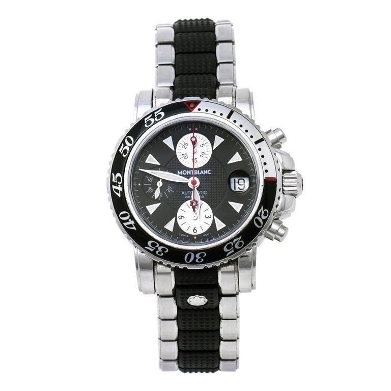 Montblanc Black Sport XXL 102359 Automatic Chronograph Men's Wristwatch 41.50 mm For Sale