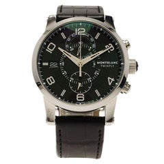 Montblanc Black Stainless Steel Timewalker Twinfly Men's Wristwatch 43MM