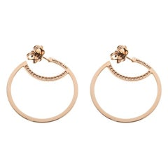 Montblanc Boheme Diamond 18k Rose Gold Hoop Earrings