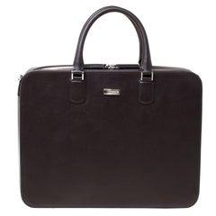 Montblanc Dark Brown Leather Briefcase