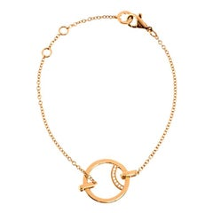 Montblanc Diamond 18k Rose Gold Chain Bracelet