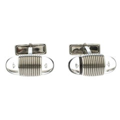 Montblanc Floating Star Diamond Stainless Steel Oval Cufflinks
