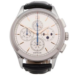 Montblanc Heritage Chonometrie Annual Calendar Chronograph Stainless Steel 11487