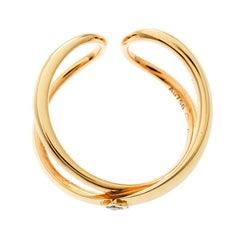 Montblanc Infiniment Vôtre Diamond 18k Rose Gold Ring Size 54