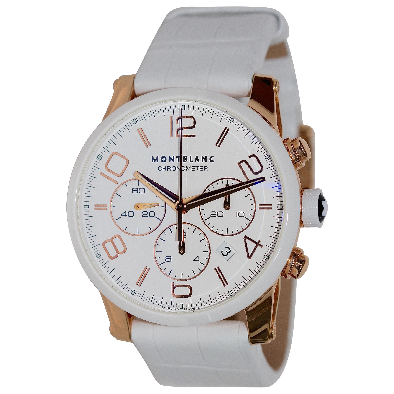 Montblanc Ladies Rose Gold Chronograph Wristwatch