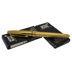 Montblanc Meisterstuck 14k Solitaire Gold Nib 4810 Barley Fountain Pen 585