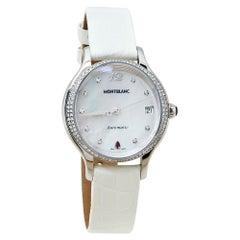 Montblanc MOP Diamonds Princess Grace De Monaco Women's Wristwatch 34 mm