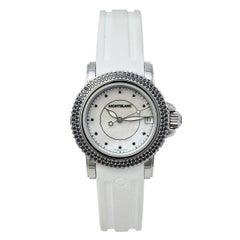 Montblanc MOP Diamonds Stainless Steel Rubber Sport 9650 Women's Wristwatch 34MM