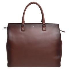 Montblanc Ombre Brown Leather Meisterstück Sfumato Briefcase