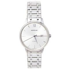 Montblanc Silver Stainless Steel Heritage Meisterstuck 7325 Men's Wristwatch 40