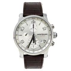Montblanc Silver Stainless Steel Timewalker Chronograph 7263 Men's Wristwatch 43